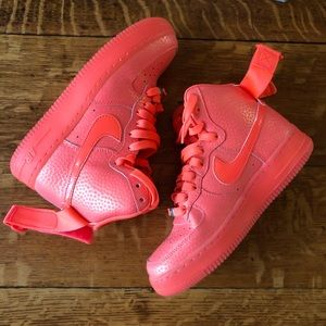 Nike Air Force 1's Neon Orange gold  Size 6